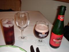 ベルギービールとカシスソーダ