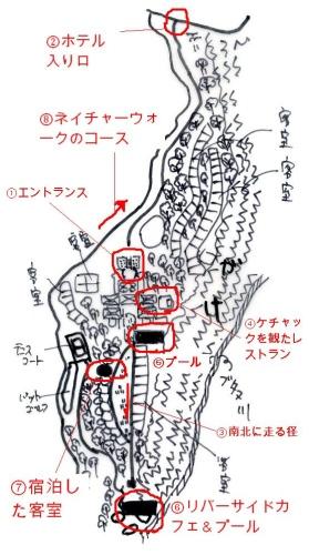 マヤウブド敷地内マップ
