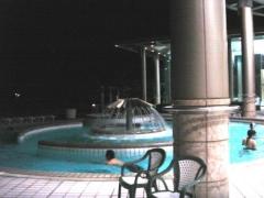 屋外の温泉