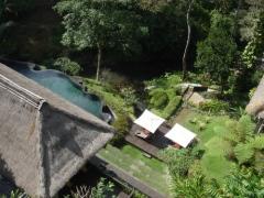 展望台から川