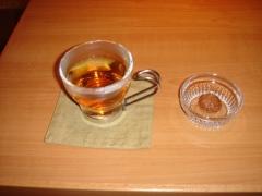最後はお茶で