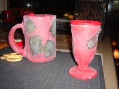 砂まみれのグラスたち。